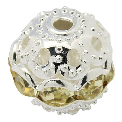 Perles en laiton de strassRB-A011-10mm-13S-1