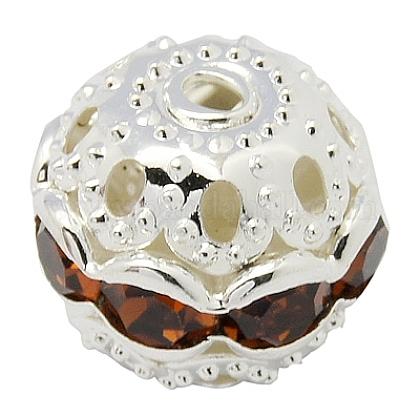 Perles en laiton de strassRB-A011-10mm-17S-1