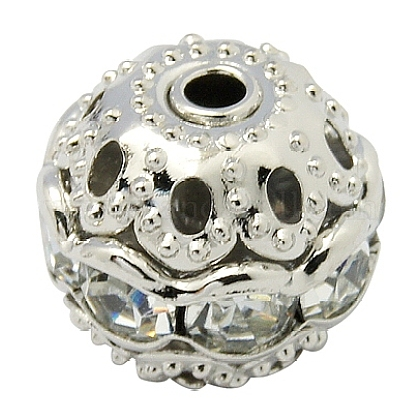 Abalorios de Diamante de imitación de latónRB-A011-8mm-01P-1