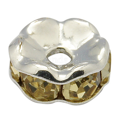 Rhinestone Spacer Beads RB-H035-36-1