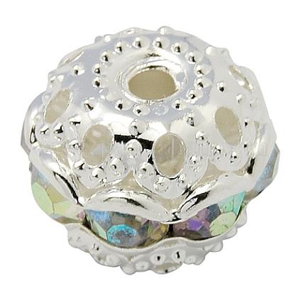 Perles en laiton de strassRB-H041-19-1