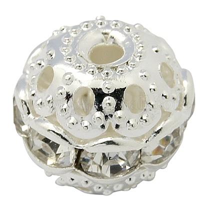 Abalorios de Diamante de imitación de latónRB-H041-20-1