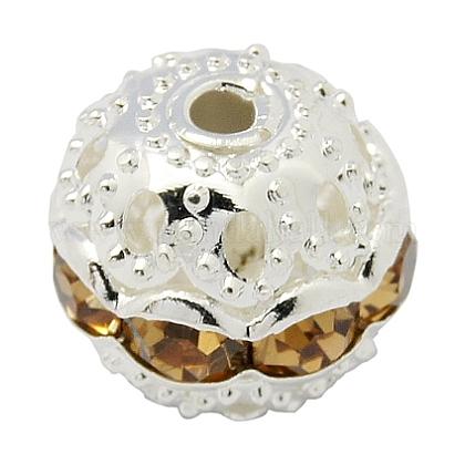 Perles en laiton de strassRB-H041-4-1