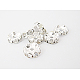 Iron Rhinestone Spacer Beads RB-A007-10MM-S-1