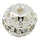 Abalorios de Diamante de imitación de latónRB-A011-12mm-01S-1