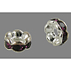 Brass Rhinestone Spacer BeadsRB-A014-L6mm-11S-NF-1
