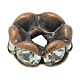 Brass Rhinestone Spacer Beads RB-A014-L7mm-01R-NF-1