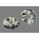 Brass Rhinestone Spacer BeadsRB-A014-L8mm-04S-NF-1