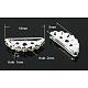 Latón con entrepiezas puente grado b rhinestoneRB-H239-19x8mm-S-1