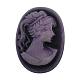 Flat Oval Pink/Violet Resin CabochonsRB021-1