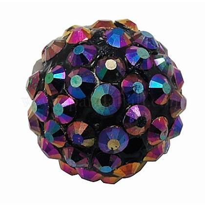 Abalorios de resina de Diamante de imitaciónRESI-A003-4-1