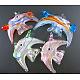 Handmade Silver Foil Glass PendantsSLSP43-1