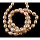 Hebras de perlas de agua dulce cultivadas naturales de grado bSPRB008Y-2-2