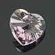 Austrian Crystal Heart PendantsSWAR-6228-10mm-3