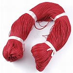 Waxed Polyester Cord, Crimson, 1mm; about 380m/bundle