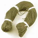 Waxed Polyester Cord, Olive, 1mm; about 380m/bundle