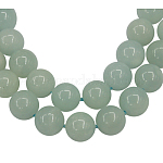 Gemstone Beads Strands, Grade A Natural Amazonite, Round, about 8mm in diameter, hole: 1mm, 49 pcs/strand, 15.5