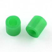 Perles à repasser maxi, fer bricolage sur des billes pour chird, Tube, verte, 8.5~9x9~9.5 mm; environ 1500 pcs / 500 g