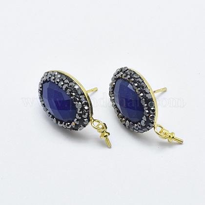 Natural Lapis Lazuli Stud Earring FindingsX-RB-L031-20G-1