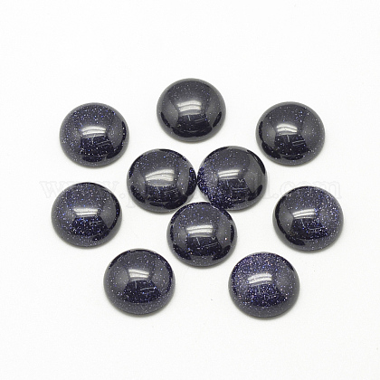 Synthetic Blue Goldstone Cabochons X-G-R416-16mm-34-1