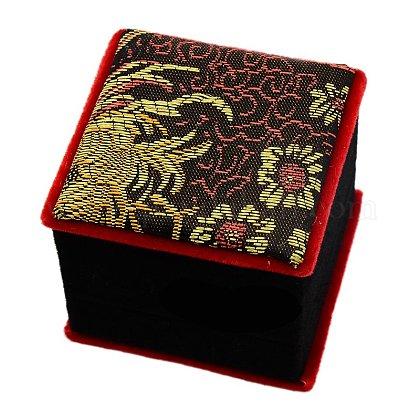 Cajas de joyas chinoiserie bordados cajas collar colgante de seda para envolver regalosSBOX-A001-04-1
