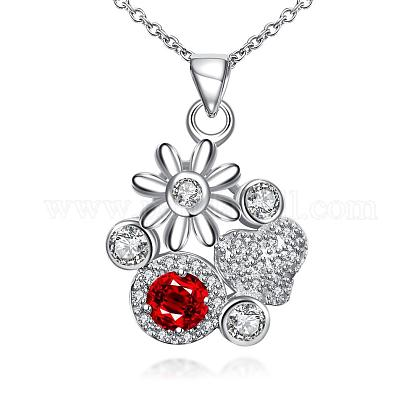 High Quality New Style Fashion Silver Plating Pendant Necklaces NJEW-BB19120-03-1