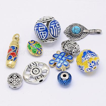 Brass & Alloy Assorted Jewelry FindingsFIND-H026-12-1