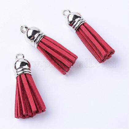 Décorations de pendentif pompon en daimFIND-T002-A13-1