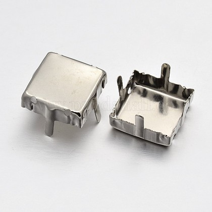Square Brass Rhinestone Claw SettingsKK-O084-03-8x8mm-1