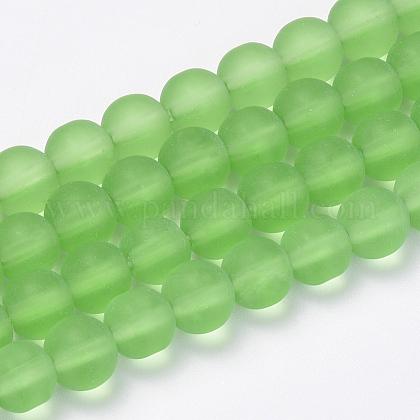 Chapelets de perles en verre transparente  GLAA-Q064-02-4mm-1