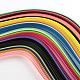 36色長方形クイリングペーパー紙 DIY-R041-06-2