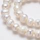Grado de hebras de perlas de agua dulce cultivadas naturalesPEAR-L001-A-08-3