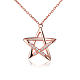 TINYSAND® Sterling Silver Star Rhinestone Pendant NecklacesTS-N264-RG-1