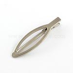 Железные аксессуары для волос, заколки аллигатора для волос, платина, 73x20 мм