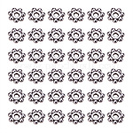 Antique Silver Tone Retro Style Christmas Snowflake Spacer Beads, Metal Findings for Jewelry Making Supplies, Lead Free and Cadmium Free & Nickel Free, about 4mm in diameter, 1.5mm thick, hole: 1mm