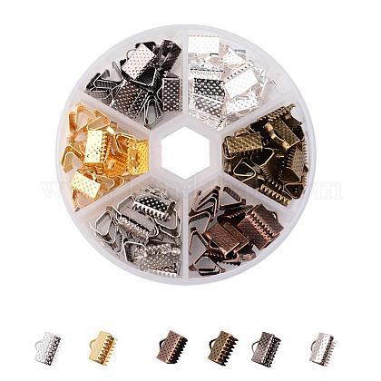 1 boîte 120 pièces 6 couleurs ruban de fer embouts à sertirIFIN-X0019-B-1
