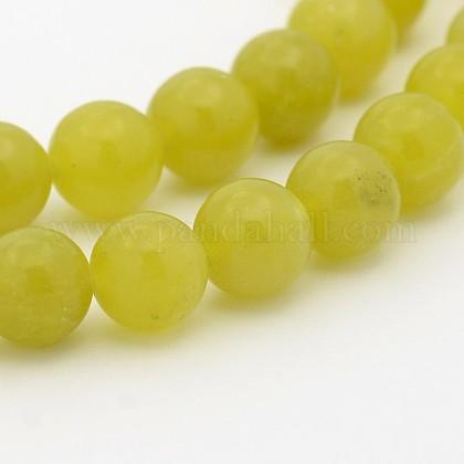 Естественно оливин круглый шарик нитиG-P070-32-8mm-1