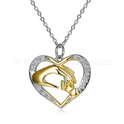 Collares pendientes de plata de ley 925NJEW-BB30056-1