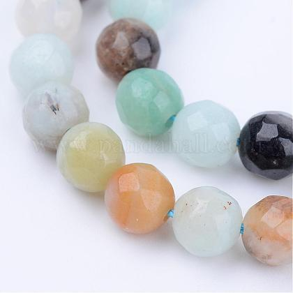 Chapelets de perles en amazonite naturelleG-Q462-6mm-42-1