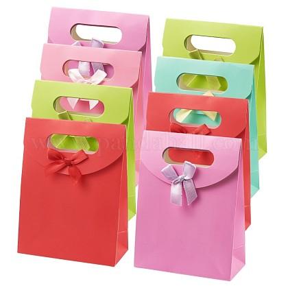 Bolsas de regalo de papel con diseño bowknot de la cintaCARB-TA0001-01-1