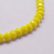 Opaque Solid Color Faceted Glass Beads StrandsX-EGLA-J047-8x6mm-04-1