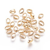Brass Snap on Bails, Nickel Free, Real 18K Gold Plated, 6.5x4.5x3mm, Hole: 3x5.5mm