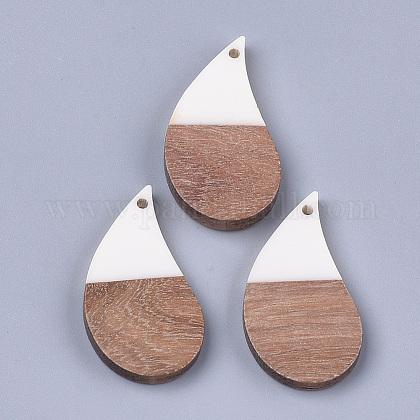 Colgantes de resina y madera de nogalRESI-S358-36A-1