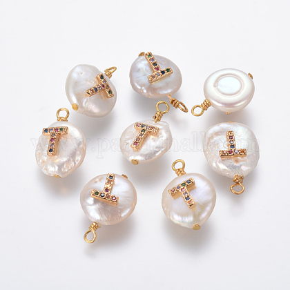 Natural Cultured Freshwater Pearl PendantsPEAR-L027-01T-1