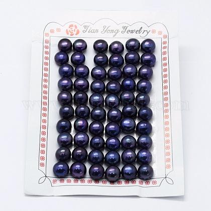 Perlas naturales abalorios de agua dulce cultivadasPEAR-P056-060-1