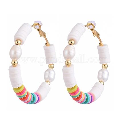 Basketball Wives Style Brass Hoop EarringsEJEW-JE04086-01-1