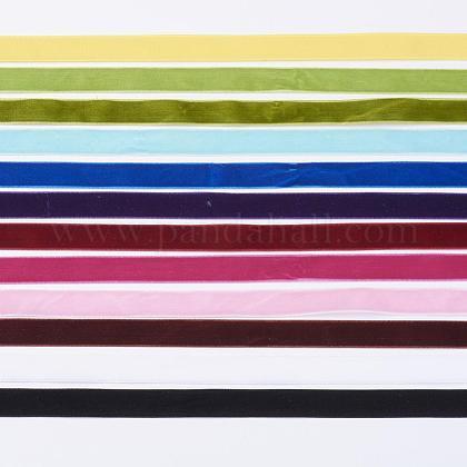 12 Colors Single Face Velvet RibbonOCOR-JP0003-15.9mm-1