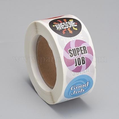 Etiquetas autoadhesivas de etiquetas de regalo de papel kraftDIY-G013-A12-1