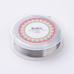 Steel Wire, Silver Color Plated, 38 Gauge, 0.1mm; 800m/roll