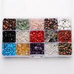 Mixed Natural & Synthetic Gemstone Beads, Chip, Mixed Stone, 5~8x5~8mm, Hole: 1mm